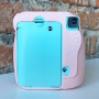 Fujifilm Instax Mini 9 Ice Blue и розовый кейс